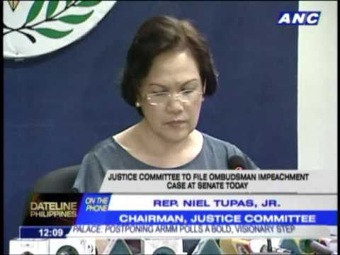House Justice Committee to file impeach complaint to Senate