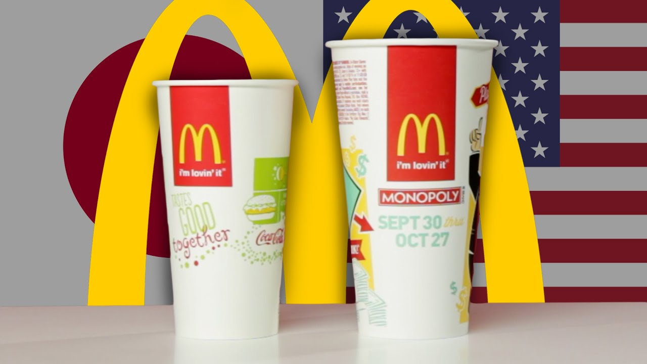 McDonaldu0027s Cup Sizes Around The World