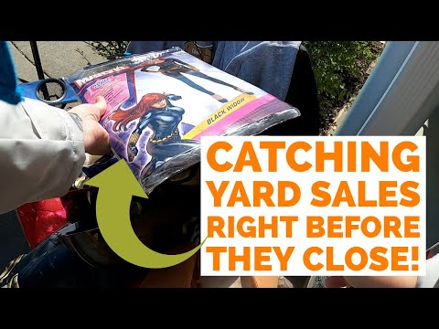 THIS IS WHY I LIKE HITTING YARD SALES LATE! | Garage Sale Hunting to Resell on Ebay & Poshmark!