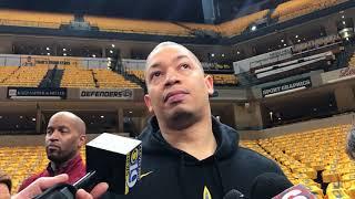 Tyronn Lue says Cavaliers have helped LeBron James on defense