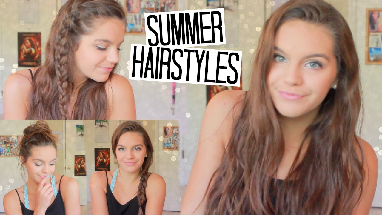 4 easy no heat hairstyles for summer!