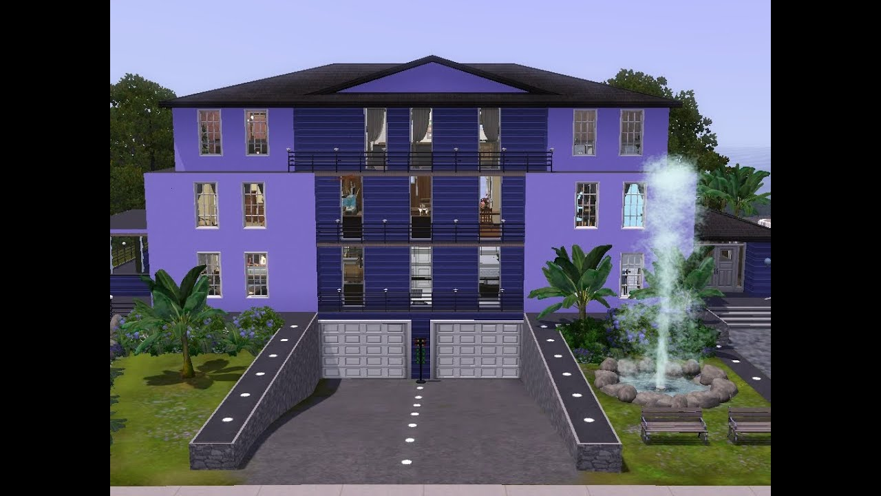 sims 3 haus bauen let 39 s build appartementhaus mit tiefgarage youtube. Black Bedroom Furniture Sets. Home Design Ideas