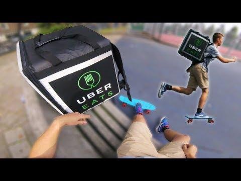 Delivering UberEATS On A Skateboard #1
