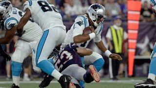 Cam Newton foot Injury vs. Patriots | NFL Preseason