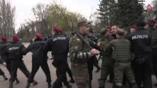 Полиция против националистов, Куликово поле, 10.04.16