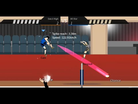The Spike volleyball game - beating bonus stage stage 19 - All Star Team tricks and tips  