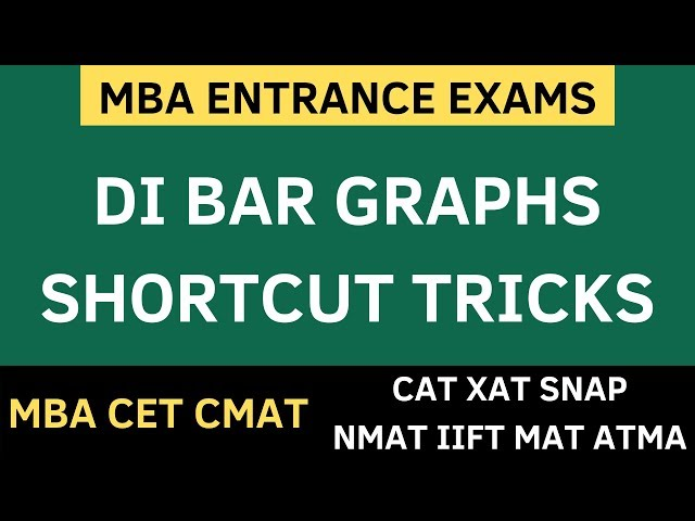 Shortcut Tricks - Data Interpretation Bar Graphs. How to crack MBA CET 2020