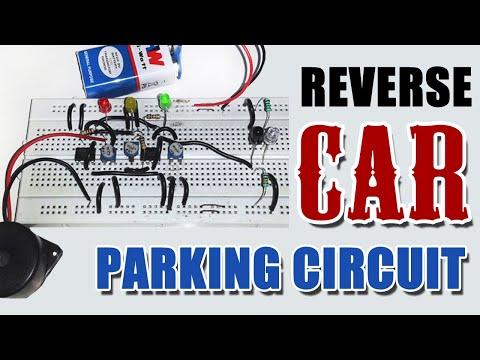 Reverse Car Parking Circuit Diagram