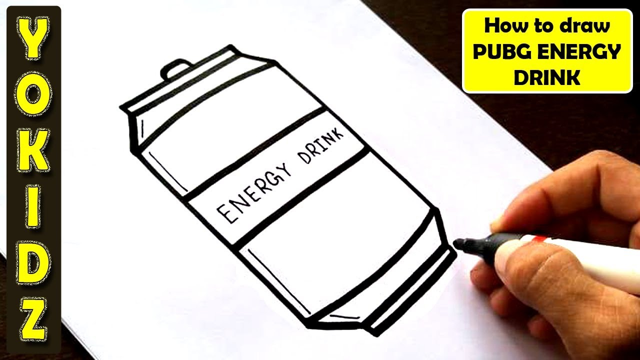 How To Draw Energy Drink From Pubg