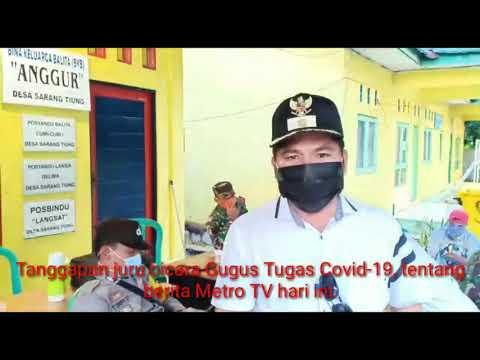 Tanggapan juru bicara Gugus Tugas Covid-19, tentang berita Metro TV hari ini.