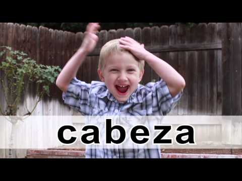 🎶 Cabeza, Cara, Hombros, Pies 👃👂👄 A Song in Spanish for learning the parts of the body