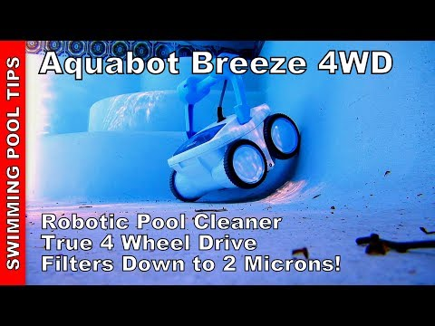 Aquabot Breeze 4WD Robotic Pool Cleaner, True 4WD & Filters Down to an Industry Leading 2 Microns!