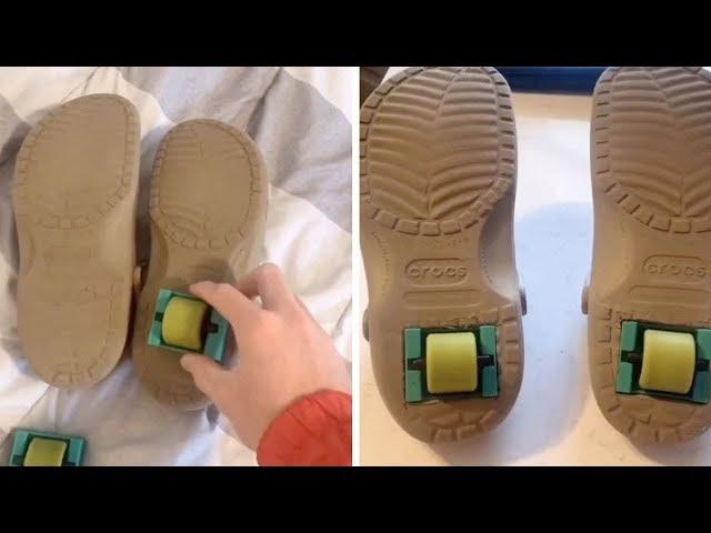Student Turns Crocs Into Heelys - YouTube