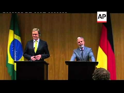 German FM Westerwelle meets Brazilian counterpart Patriota
