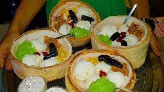 Em gái xinh đẹp bán kem dừa khách đông nghẹt trên vỉa hè Sài Gòn | street food saigon