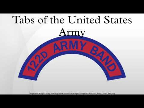 Tabs of the United States Army