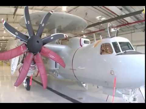Northrop Grumman - E-2D Advanced Hawkeye Airborne Early Warning Aircraft [480p]