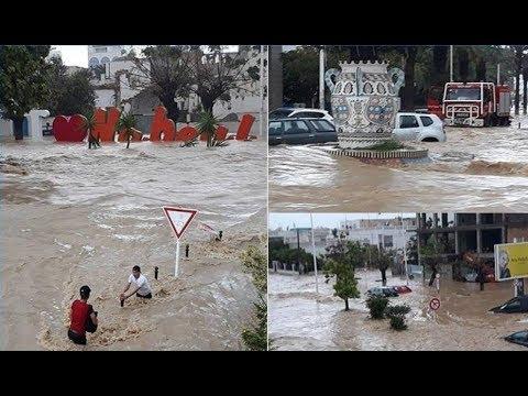 تونس: أربعة قتلى وخسائر كبيرة في فيضانات مدينة نابل
