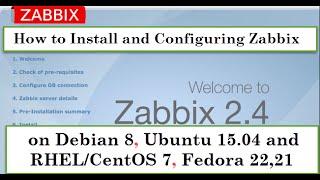 How to Install & Configuring Zabbix 2.4.5 on Debian 8, Ubuntu 15.04 and RHEL/CentOS 7, Fedora 23