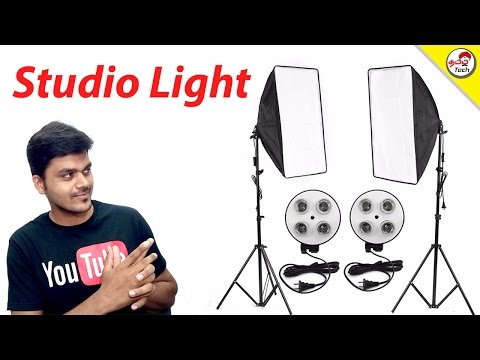 Photo Video Professional Studio Light Unboxing & Review | Tamil Tech