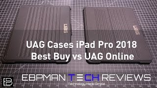Apple iPad Pro 2018 Urban Armor Gear Best Buy vs UAG Online Version | Whats different?