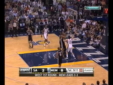 2011 San Antonio Spurs vs Memphis Grizzlies. Game 6. Part 1