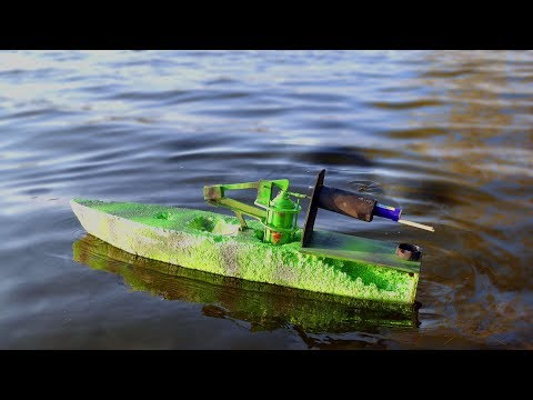 Rocket Powered RC Jet Boat!!! Amazing Reaction (BOBKA TV)