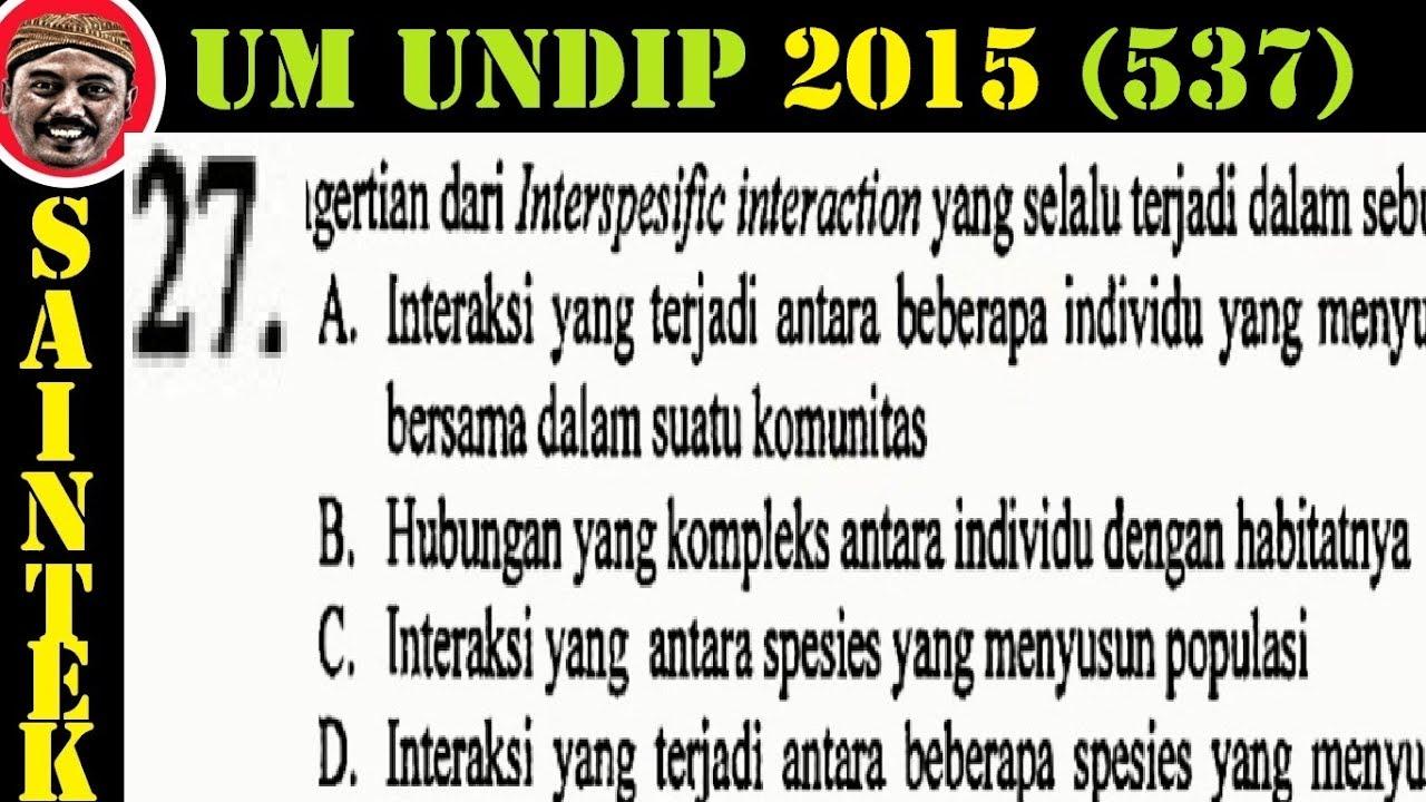 UM UNDIP 2015 Kode537, Biologi, Pembahasan No 27, Hubungan