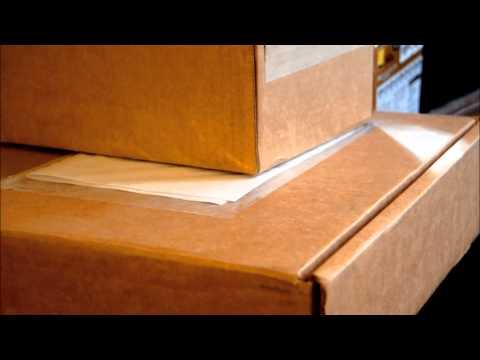 (3D binaural sound) Asmr opening cardboard boxes