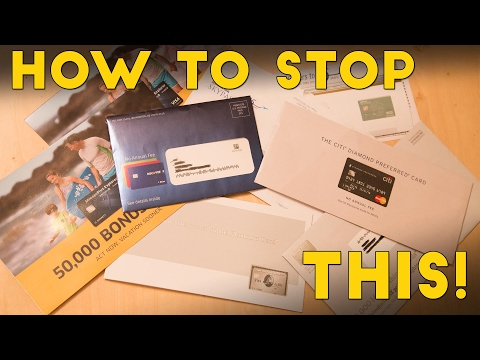 How To Stop Credit Card Junk Mail