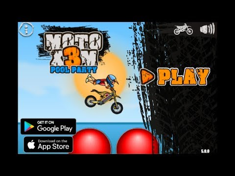 MOTO X3M POOL PARTY (Game Walkthrough)
