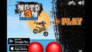 Moto X3m Pool Party  Game Walkthrough