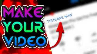 How To Make Your Video Trending Now!! YOUTUBE SECRET