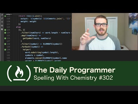 Spelling With Chemistry - The Daily Programmer #302