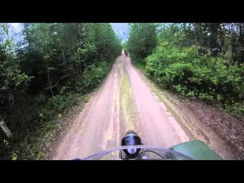 Entire Forest Road in the Republic of Karelia, Russia