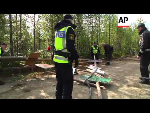 Activists Scuffle With Police Over Mining Plans In Woods Where Indigenous Sami Live