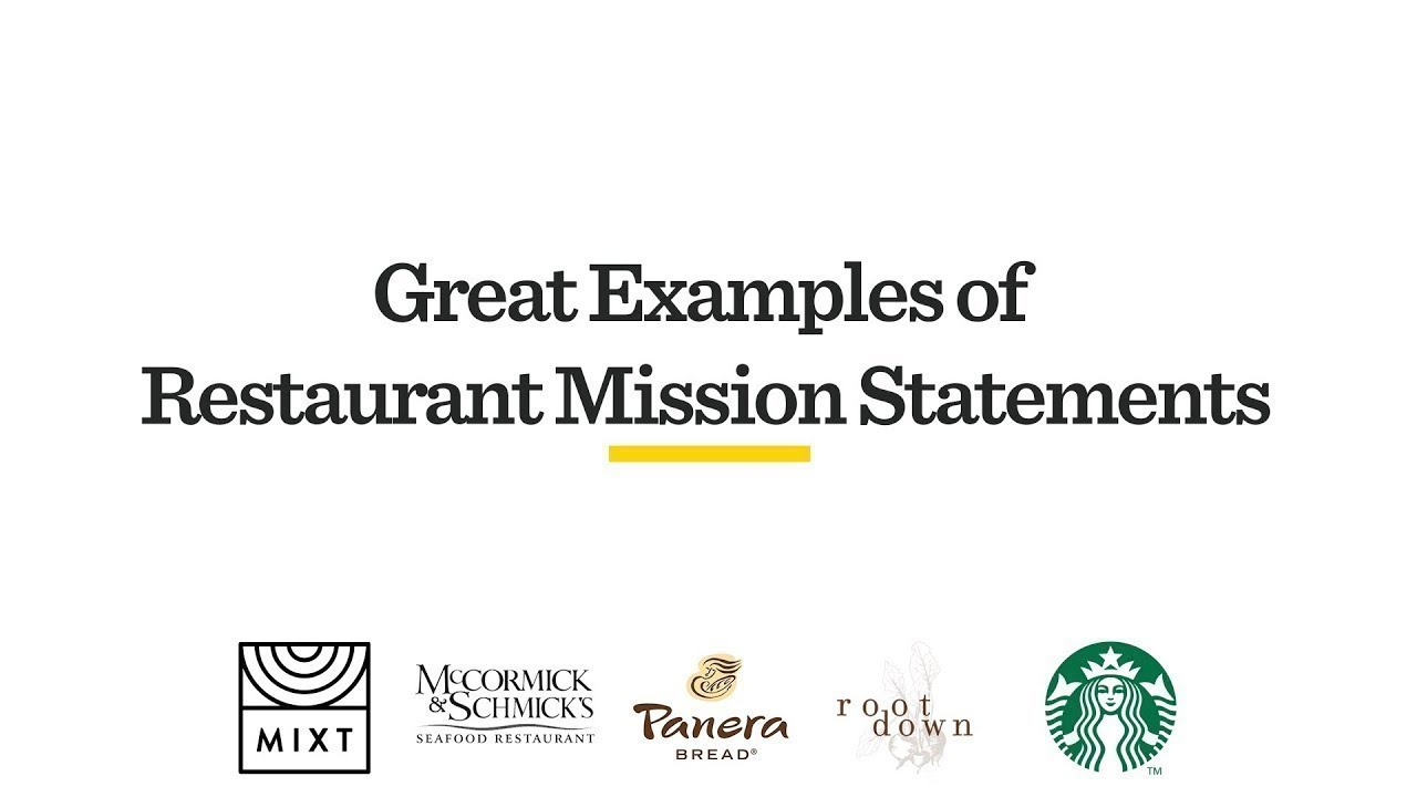 5 Great Examples Of Restaurant Mission Statements Youtube