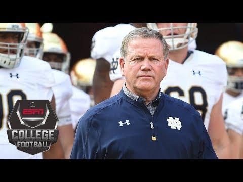 Notre Dame Coach Blames Himself For Disastrous 2017 Football Season | College Football Live | ESPN
