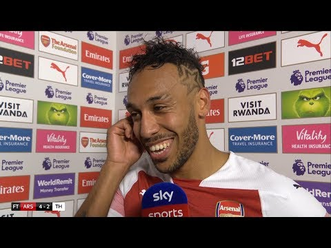 Aubameyang thrilled with incredible 4-2 North London derby win! | Arsenal v Tottenham