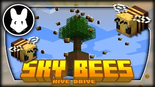 Pt1b Sky Bees modpack HIVE DRIVE w/CCI \u0026 Carrier Bees! (stream)