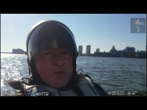 Winter Kayak Sail - Hobie TI - Delaware River - Ben Franklin