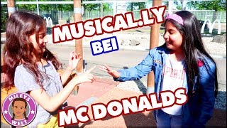 MUSICAL.LY bei McDONALDS - Treffen mit Freundin - Mileys Welt