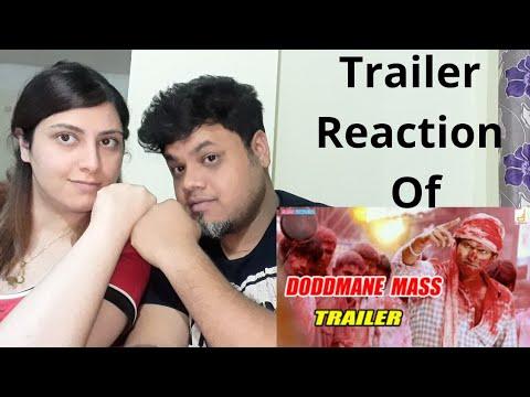 Doddmane Hudga Mass Trailer #Reaction | #PuneethRajkumar |Foreigner VS Indian Reaction