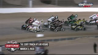 Highlights: World of Outlaws Craftsman Sprint Cars The Dirt Track at Las Vegas