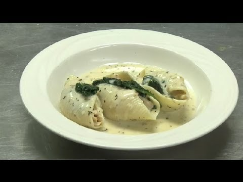 Chicken & Spinach-Stuffed Pasta Shells : Interesting Recipes
