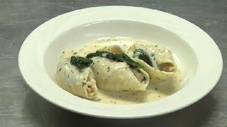 Chicken & Spinach-stuffed Pasta Shells : Interesting Recipes