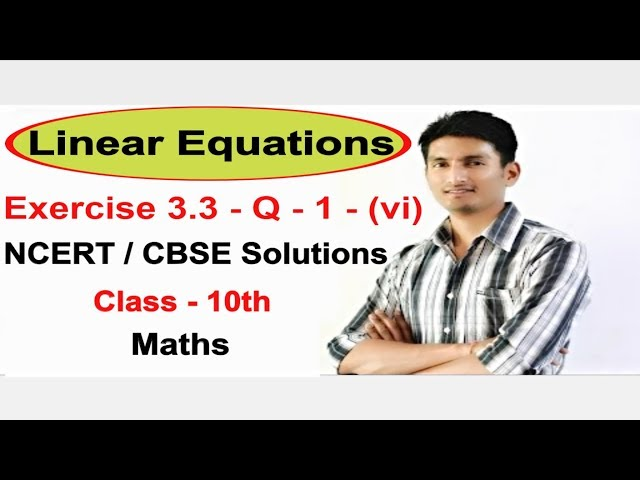 Chapter 3 Exercise 3.3 Q 1 - Pair of Linear Equations in two variables class 10 maths (NCERT)