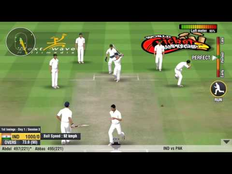 Wcc2 game first time test match 1000runs of partnership