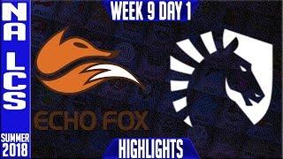 Video FOX vs TL Highlights | NA LCS summer 2018 Week 9 Day 1 | Echo Fox vs Team Liquid Highlights download MP3, 3GP, MP4, WEBM, AVI, FLV Agustus 2018