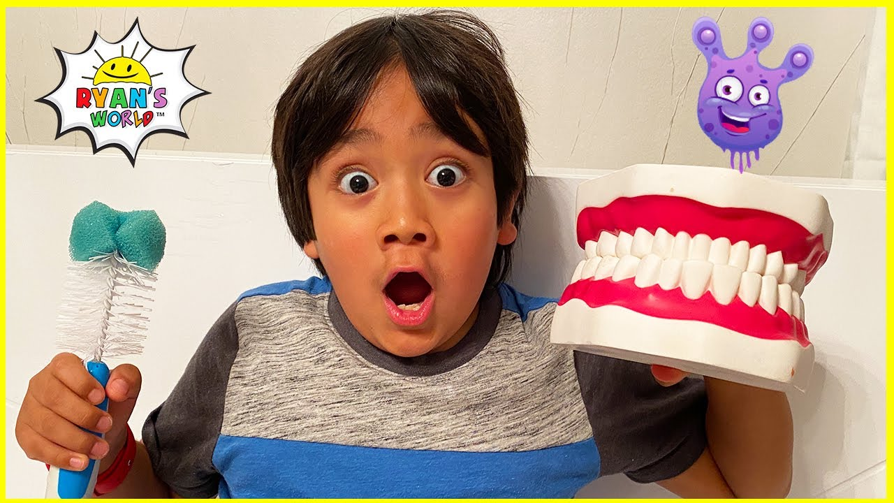 Download Ryan learns why do we brush our teeth! | Educational Video for Kids